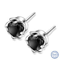 925 Sterling Silver earring CZ Cubic Zirconia crystal DLE72