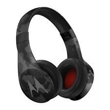 New Motorola Pulse Escape Wireless Over-Ear Headphones Black Camo for music