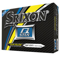 Cleveland Srixon Q STAR 2 Piece Long Distance Tour Yellow Golf Balls, 1 Dozen
