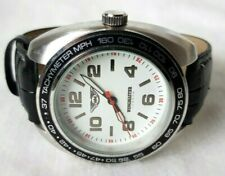 Mens Wingmaster London Watch With A White Dial & Black Strap