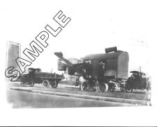 Early THEW STEAM SHOVEL (LORAIN) on Wheels being moved by AC MACK 8x10 Photo