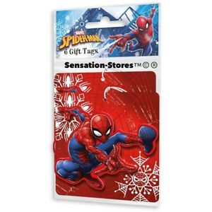 MARVEL SPIDERMAN Christmas Gift Tags 6 Pack