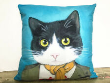 1x Simple Painting Cartoon Cat Home Decor Sofa Cushion Covers Pillow Case 18''