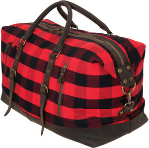 Weekender Travel Duffel Bag Canvas Leather Military Fashion 3 Day Tote Carry On