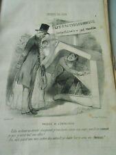 Litho Caricature 1849  Lit Fauteuil Commode en un seul Meuble Ebénisterie