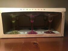 NEW! Williams Sonoma Box 6 Duraclear Margarita Multicolored Glasses Shatterproof