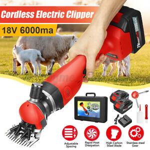 Cordless Electric Shears Sheep Shearing Adjust Speed  2200RPM Carding Farm