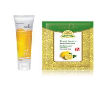 Tiande Limón Universal descamación y cuerpo de limón fresco conjunto de sal exfoliante