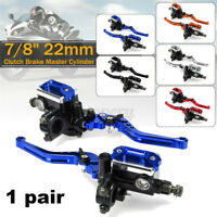"22mm 7/8"" Motorcycle Handlebar Cylinder Hydraulic Brake Clutch Lever"