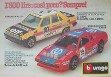 Pubblicità Advertising Italian 1984 BBURAGO RENAULT 9 FERRARI 308 GTB RALLY