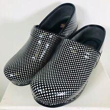 Dansko Size 41/10.5-11 EUC Black/White Checked Professional  Slip On Shoes