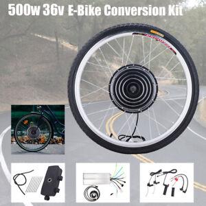 "26"" Vorderrad E Bike Conversion Kit 36V 500W Ebike Elektrofahrrad Umbausatz DE"
