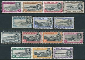 1938-1953 ASCENSION DEFINITIVES SET OF 14 MINT HINGED SG38-SG47a