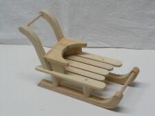 Schlitten zum Schieben aus Holz für Puppen und Bären oder als Dekoration