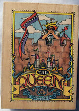 Mary Engelbreit Queen Of Everything #592H Wood Mounted Rubber Stamp Craft