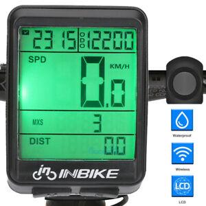 Digital Wireless Bike Bicycle Speedometer Cycle Odometer MPH KMH Waterproof