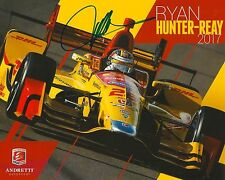 Ryan Hunter-Reay signed 8x10 2017 Driver Card photo Irl Indy with Coa