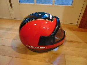 Vintage 2000 Polaris Special Edition XP SP Snowmobile Helmet Red Black Gold XL