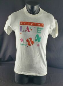 Vintage Levis 1984 USA Olympics LAOOC Staff Torch Relay T Shirt Adult Large (L)