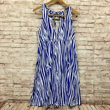 Lilly Pulitzer Dress Size M Womens Sleeveless Halter Striped Blue