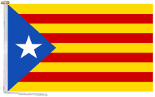 More details for catalonia independence estelada blava flag with rope and toggle - various sizes