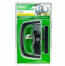 Whitco OXLEY SLIDING DOOR DEADLOCK Patio Rust Resistant- BLACK *Aust Brand