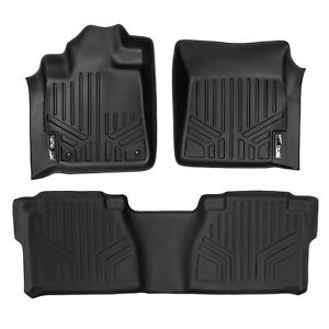 SmartLiner All Weather Custom Fit Floor Mats Liner for Tundra Double CabBlack