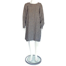 45 RPM Japan Checkered Plaid Gingham Oversized Linen Cotton Dress size 0 /2045