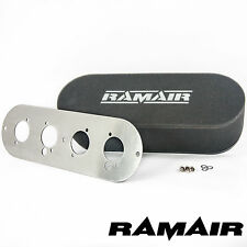 RAMAIR Twin Carb Bolt On Air Filter With Baseplate Talbot Sunbeam & Samba 65mm