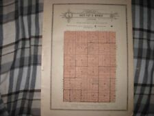ANTIQUE 1921 NORTH PART MENOKEN TOWNSHIP SHAWNEE COUNTY KANSAS MAP W LAND OWNERS