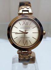 ANNE KLEIN Designer Ladies Watch Brown & Gold Lightweight RRP £129 (p54)