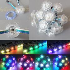 20PCS WS2811 3LED D26 26MM Full Color LED String Module 5050 RGB IP67 12V Clear