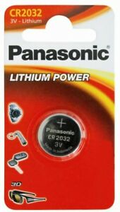 ONE PANASONIC CR2032 MOTHERBOARD BIOS CMOS REPLACEMENT LITHIUM BATTERY .....