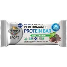 Garden of Life Organic Sport Protein Bar, Vegan, Chocolate Mint - 12 Count