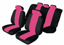 SPORTY Universal CITROEN C2 C3 C4 Car Seat Covers in BLACK & PINK