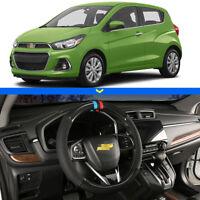 "For Chevrolet Spark Car Steering Wheel Cover 15""38cm Black Carbon Fiber Leather"
