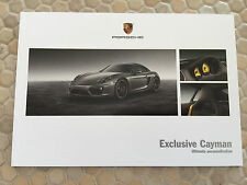 PORSCHE CAYMAN & CAYMAN S EXCLUSIVE OPTIONS PRESTIGE BROCHURE 2013 USA EDITION