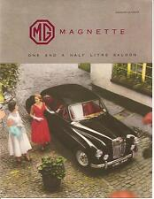 MG  Folder  Circa 1957  Magnette 1.5 Litre Saloon
