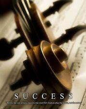 Musical Instruments Motivational Poster Art Print Violin Band Sheet Music MVP208