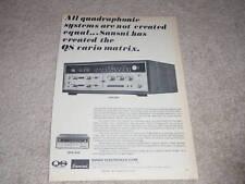 Sansui QRX-6500,3500 QUAD Receiver Ad,specs,Article