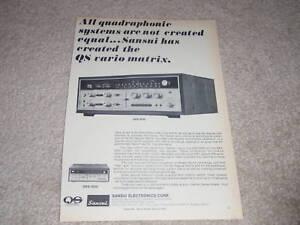 Sansui QRX-6500, 3500 Quad Empfänger Ad, Brille, Artikel