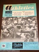 ATHLETICS WEEKLY - MONTREAL OLYMPIC TIMETABLE - MARCH 9 1974