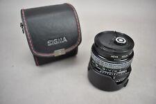 Sigma Mini Wide II 28-52mm Multi Coated Camera Macro Lens and Plastic Hood Shade