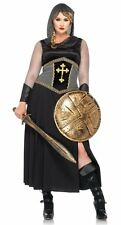 LADY KNIGHT JOAN OF ARC WARRIOR ADULT HALLOWEEN COSTUME WOMEN'S PLUS SIZE 1X-2X