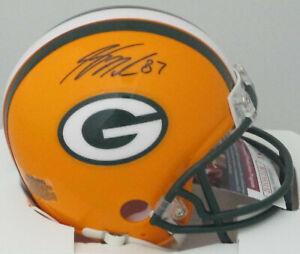 Packers SB XLV Champ JORDY NELSON Signed Riddell Mini Helmet AUTO  -  JSA