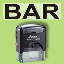 BAR - Shiny Printer Schwarz S-842 Büro Stempel Kissen schwarz