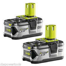 Ryobi RB18L40/2 18v 4.0Ah Li-ion Battery Twin Pack RB18L40