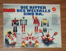 Rara publicidad mattel Shogun caballero del espacio Mazinga Raider dragun 1978