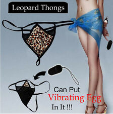 Sexy Womens Ladies Underwear Leopard Panties G-String Thong Pants for Vibrator