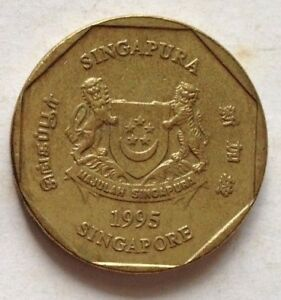 Singapore 1995 2nd Series 1 Dollar coin